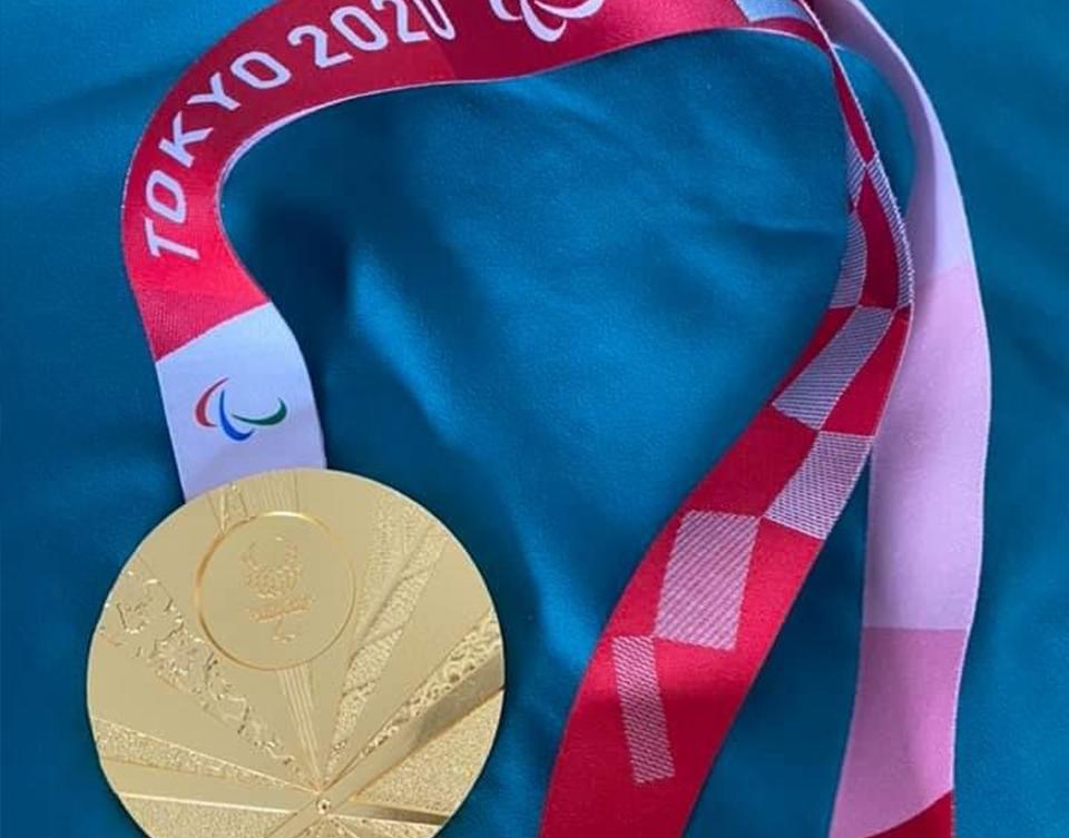 Nichole's gold medal