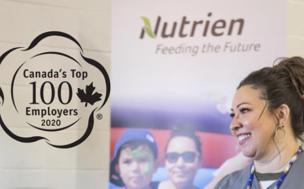 Nutrien recognized as one of Canada's Top 100 Employers