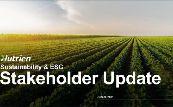 ESG Stakeholder Update