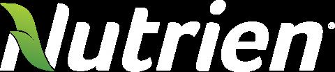 Nutrien logo - white plus leaf without tagline [PNG]